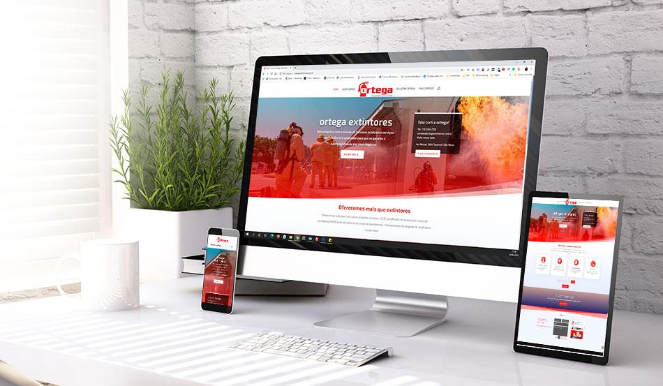Criação do site Institucional da Ortega Extintores