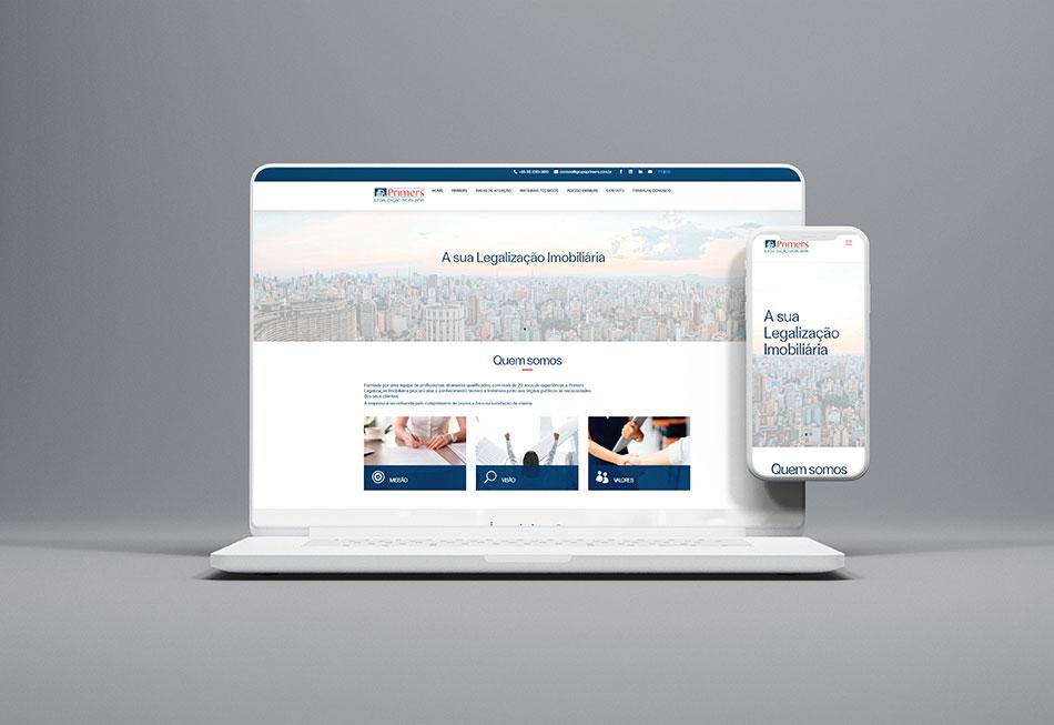 Portofólio Criação de Website Grupo Primers