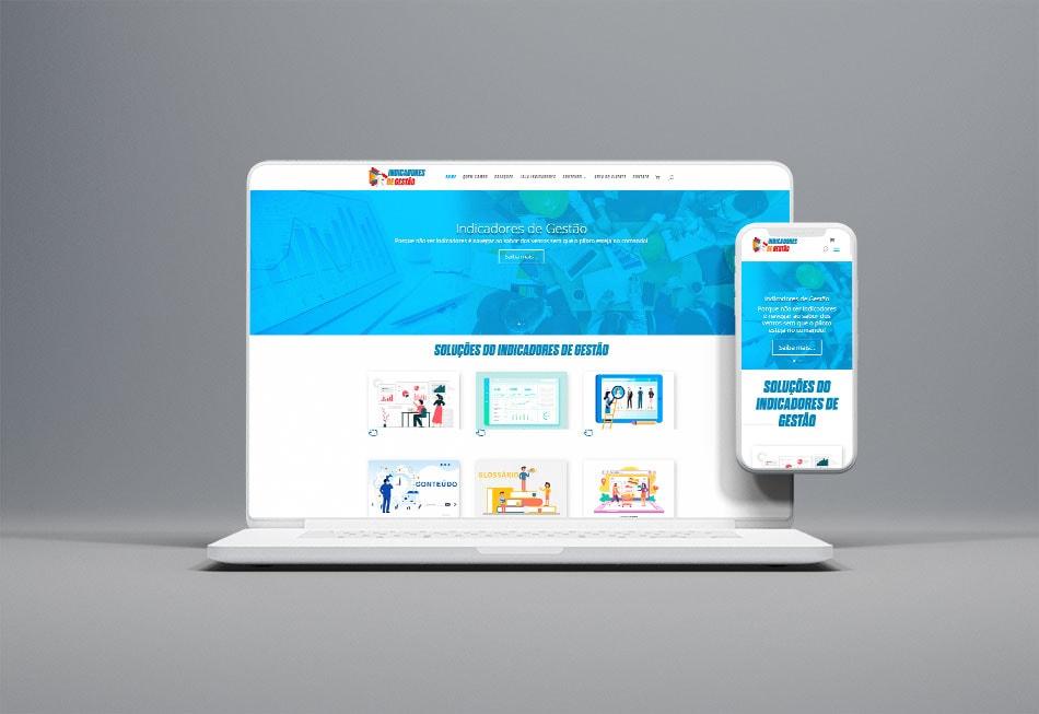 Criação do Website do Indicadores de Gestão