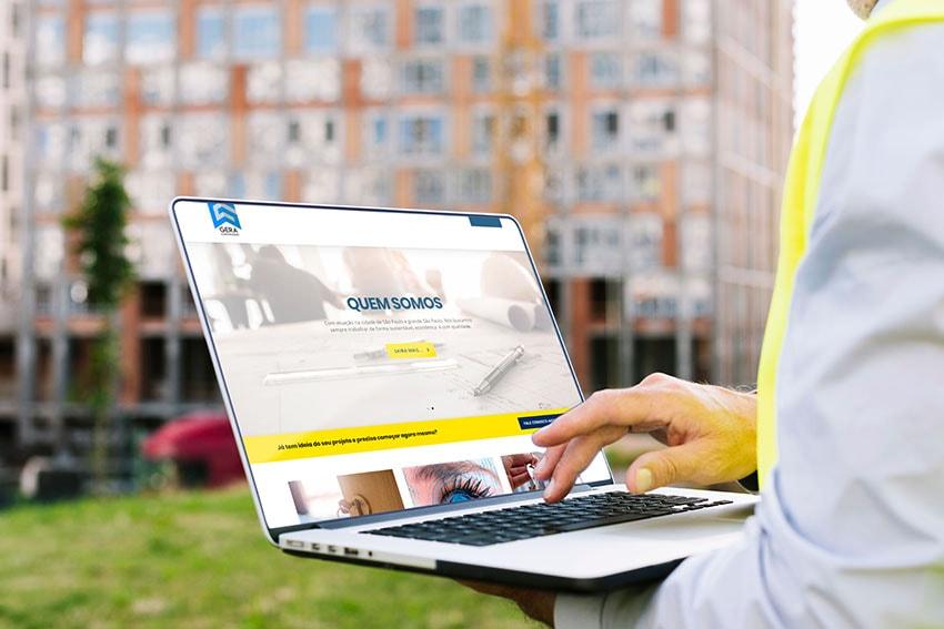 Portfólio CityPubli: criação do site da Gera Construções